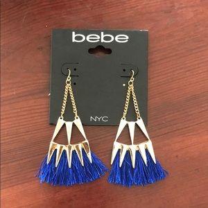 Bebe fringe spike earrings